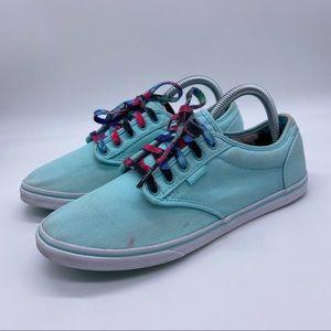 Vans teal floral Laces sneakers